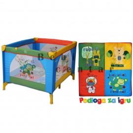 Slika Prenosiva ogradica za decu Play Square Multicolor