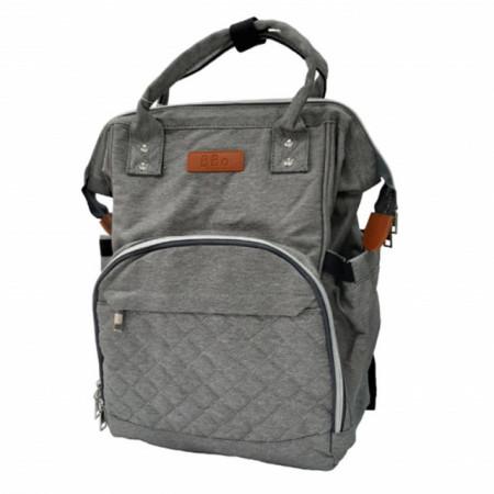 Slika Torba za mame BBO Sport Mama Bag siva + podloga za presvlačenje beba