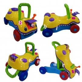 Slika Guralica za prohodavanje i igračka za decu 3 u 1 Multicolor Krokodil
