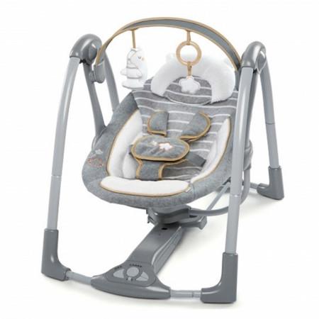 Slika Kids II Muzička ležaljka ljuljaška Boutique Collection Swing `n Go Portable - Bella Teddy 11023