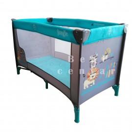 Krevetac za bebe Jungle Moon Mint Animals