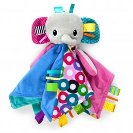 Slika Plišana igračka i ćebence za bebe Kids II Caddle `n Tags Blankie 10213 Elephant