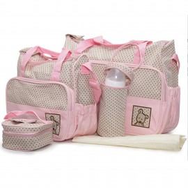 Slika Cangaroo Set Torba za mame Stella Pink + podloga za presvlačenje beba + termo torbica za flašicu
