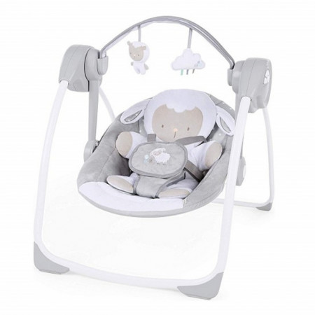 Slika Muzička ležaljka ljuljaška za bebe Kids II Ingenuity Comfort 2 Go Cuddle Lamb 12184