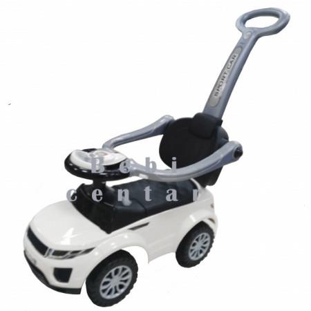 Slika Guralica za decu Sport Car White sa ručkom za guranje