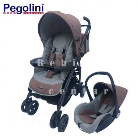 Pegolini kolica za decu Play plus Dark Orange
