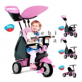 Slika Smart Trike tricikl za decu sa ručkom za guranje Shine Pink 4 u 1