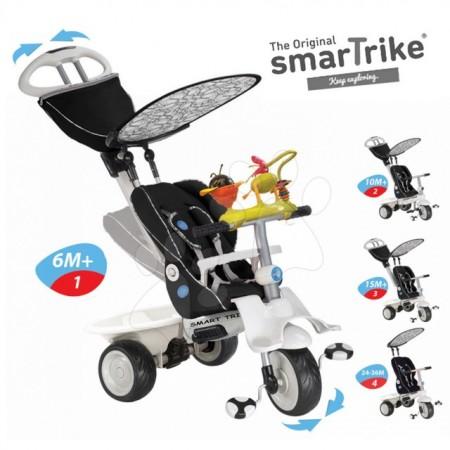 Slika Tricikl Smart Trike Recliner Black sa igračkom 4 u 1