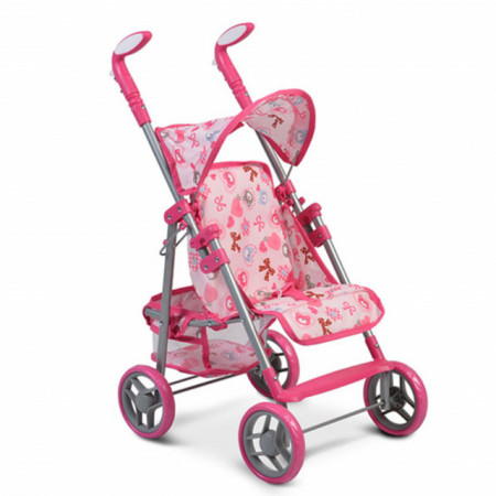 Cangaroo Kolica za lutke Flower Garden Pink