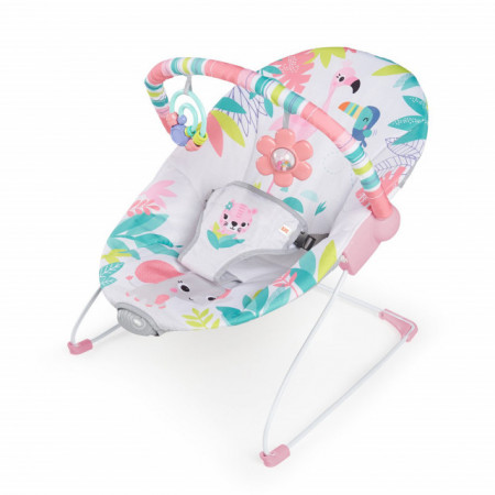 Kids II Bright Starts Lezaljka sa vibracijom Flamingo Vibes 12228