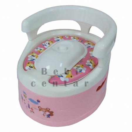 Slika Noša za decu sa naslonom i adapterom Meda rozi