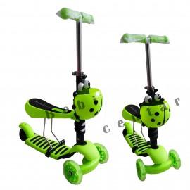 Slika Trotinet za decu Scooter Bubamara Zelena 3 u 1