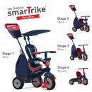 Tricikl za decu sa ručkom za guranje 4 u 1 Smart Trike Star Navy Blue Red 4 u 1
