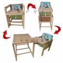 Drvena hranilica za decu set 2 u 1