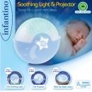 Infantino Muzička noćna lampa sa zvezdanim projektorom za krevetac Blue