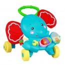 Muzička guralica za prohodavanje i igračka za decu 3 u 1 Lorelli Elephant Activity