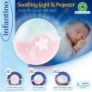 Infantino Muzička noćna lampa sa zvezdanim projektorom za krevetac Pink