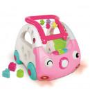 B Kids Guralica i igračka za decu sa zvukom i svetlom Sensory Car Pink 2 u 1