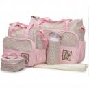 Cangaroo Set Torba za mame Stella Pink + podloga za presvlačenje beba + termo torbica za flašicu