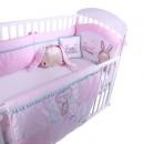Posteljina My Baby Fashion Bunny Light Pink set 8/1