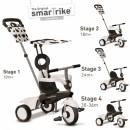 Smart Trike Vanilla White & Black Tricikl za decu sa ručkom za guranje 4 u 1