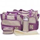 Cangaroo Set Torba za mame Stella Purple + podloga za presvlačenje beba + termo torbica za flašicu