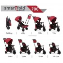 Tricikl Smart Trike Folding 700 8 u 1 Crveni