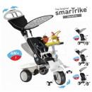 Tricikl Smart Trike Recliner Black sa igračkom 4 u 1