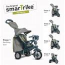 Tricikl za decu sa ručkom za guranje Smart Trike Explorer Grey Green