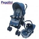 Pegolini kolica za decu Play plus sa auto sedištem Blue New