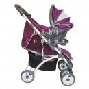 Pegolini Kolica za decu sa auto sedištem Space plus Purple