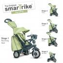 Tricikl za decu sa ručkom za guranje Smart Trike Explorer Green