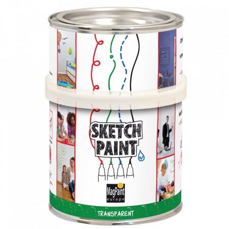 Vopsea whiteboard 1L transparenta usor stralucitoare Sketchpaint Magpaint