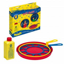 Jucarie baloane de sapun cu 2 inele 18 cm si 250ml solutie baloane de sapun Pustefix