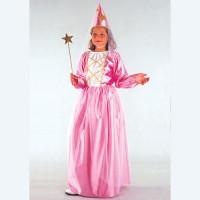 Rochita lunga roz pentru costum printesa de 11-14 ani