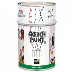 Vopsea whiteboard alb mat Sketchpaint 0.5L Magpaint
