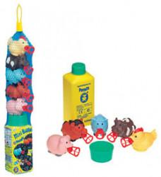 Set baloane de sapun Pustefix - Mini Bubbelix- 5 figurine animale din ferma