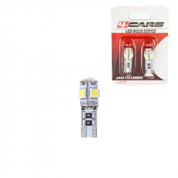 Bec Led - 5SMD 12V pozitie T10 W2,1x9,5d Canbus 2buc 4Cars - Alb