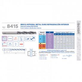 BURGHIU CARBURA CNC ALTIN 5xD RACIRE INTERNA 8.2 mm