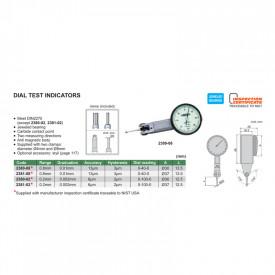 Ceas Comparator Pupitast 0.8mm 0.01mm Orizontal 2301-08