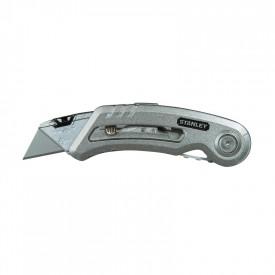 STANLEY Cutter cu lama retractabila, trapezoidala, Quickslide, 120mm