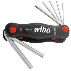 WIHA Set Chei hexagonale, in suport PocketStar®, set 7 buc, 1,5- 6mm