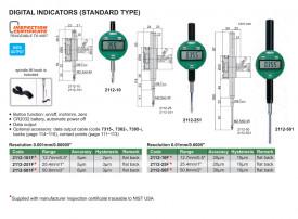 Ceas Comparator Digital INSIZE 25.4mm 0.01mm 2112-25F