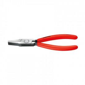 KNIPEX Cleste bacuri plate, cap polisat, 140mm, maner izolatie plastic