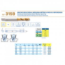 TAROD ELICOIDAL HSS 5%Co TIN M6 x1