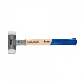 FORUM Ciocan antirecul cu capete interschimbabile, coada lemn, nylon/nylon, 35mm