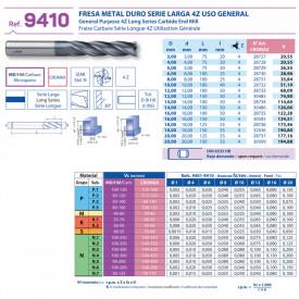 FREZA FINISARE CARBURA CROMAX 4Z EXTRA LUNGA 18 mm