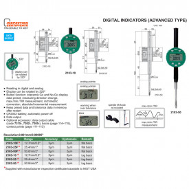 Ceas Comparator Digital INSIZE 50.8mm 0.001mm Avansat 2103-50F