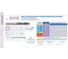 BURGHIU CARBURA CNC ALTIN 3xD RACIRE INTERNA 7.2 mm