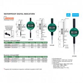 Ceas Comparator Digital INSIZE 12.7mm 0.01mm IP65 2115-10F